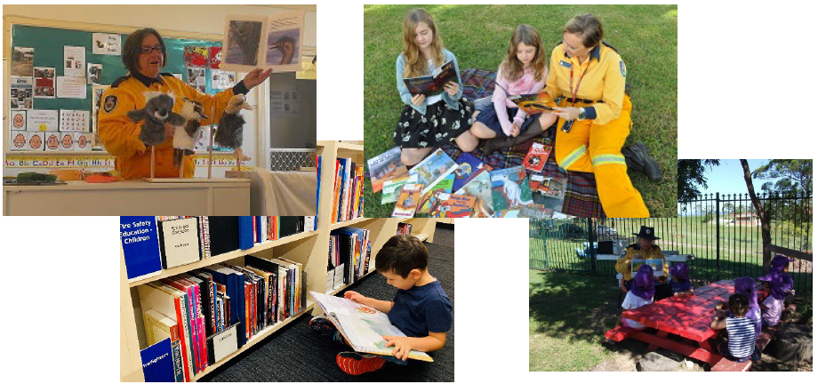 Members using the children's bush fire collection